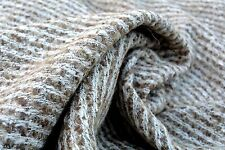 D135 DELUXE WOOL BLEND CHUNKY DIAGONAL WEAVE SUPER SOFT NATURAL ECRU & HAZE NUT