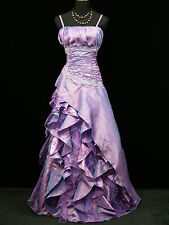 Cherlone Purple Ballgown Long Prom Bridesmaid Formal Wedding Evening Dress 22-24