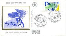 FRANCE FDC - 1990 4 JOURNEE DU TIMBRE - 2640 - VILLEURBANNE sur soie