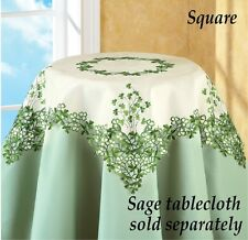 Embroidered St. Patrick's Day Irish Clover Square Tablecloth