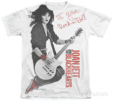 Joan Jett - Rock n' Roll Apparel T-Shirt XL - Sublimate White