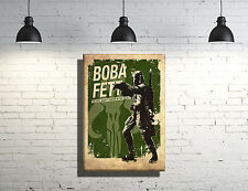 Star Wars Boba Fett inspired framed Canvas Wall Art