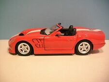 Nice 1:18 Scale Gold Collection Red 1999 SHELBY SERIES 1 Die-cast By Bburago