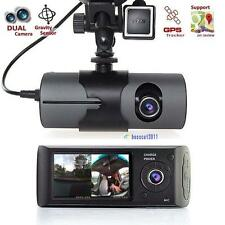 "2.7"" Vehicle Car DVR Camera Video Recorder Dash Cam G-Sensor GPS Dual Len Cam@BA"