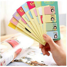 2 Pcs Cute Girl Stationary Side Sticker Memo Sticky Note Office School Supplies