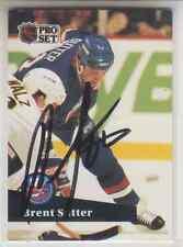 Autographed 91/92 Pro Set Brent Sutter - Islanders