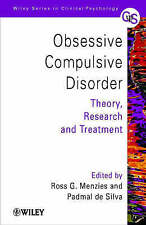 Obsessive-Compulsive Disorder: Theory, Research and Treatment-ExLibrary