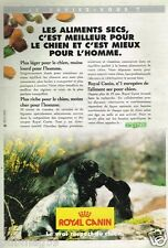Publicité advertising 1996 Aliments pour chiens Royal Canin