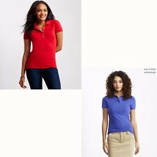 Women clothes teen girl Aeropostale Polo Shirt Uniform School Red Purple Medium