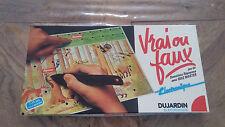 Jeu Vintage « Vrai ou Faux »avec Quiz Master Tout neuf