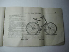 RARE - Advertising Trade Catalog - Boak Bicycle - Buffalo NY - 1894