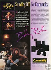 1995 Print Ad of Community CSX-S2 Monitors with Bobby Rock