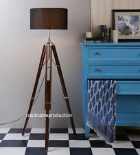 CLASSIC Handmade Tripod FLOOR Shade LAMP Antique Look Lamp Marine Vintage Lamp