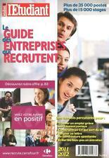 le guide des entreprises qui recrutent (édition 2011/2012) Collectif Occasion