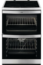AEG 49176VMN Stainless Touch Control Multifunction Double Oven Ceramic Cooker,.