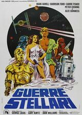 POSTER GUERRE STELLARI (STAR WARS, 1977) MARK HAMILL HARRISON FORD CARRIE FISHER