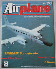 Airplane Issue 70 EMBRAER Bandeirante Cutaway drawing & poster, Pilatus PC-7/9