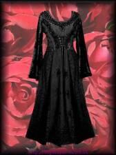 Mittelalter Gothic Kleid Raven Queen  Gewand schwarz  XXL  Gothic Larp
