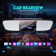 4.3'' LCD Car Rear View Mirror Monitor LED Night Vision Reverse Backup HD Camera