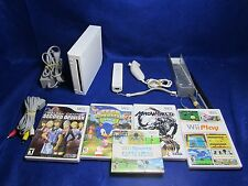 #1 Nintendo Wii Console Bundle w/ Nunchuck, Remote & 5 Games - Tested/Works