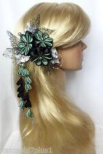 Franzözische Haarspange Haarschmuck Kanzashi Brautschmuck Satinblume Haarblüten
