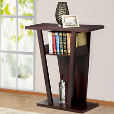 New Espresso Console Sofa Entry Hall Table with Shelf / Drawer Exhibition Table