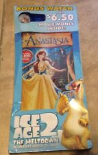 Anastasia 2 disc special edition DVD + Ice Age 2 Wrist Watch NEW factory sealed