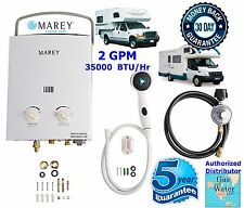 Marey - 2 GPM Portable Tankless Water Heater RV's & Campers Propane Gas LPG