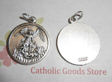 St Michael the Archangel - Italian Silver-tone OX Round 7/8 inch Medal