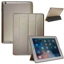 Lujo Cuero Funda protectora para Apple iPad pro tablet bolso Cover Case Smart Oro