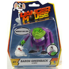 "Danger Mouse 3"" / 8cm Baron Greenback & Nero Action Figure UK 4 Years + NEW"