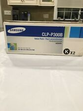 GENUINE SAMSUNG TONER CARTRIDGE CLP-P300B K BLACK VALUE PACK 2 TONERS IN BOX