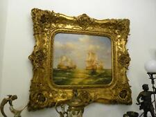 OIL PAINTING ON CANVAS IN BEAUTIFUL GOLD FRAME - MARINE