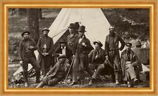 Group of Guides for the Army of the Potomac Zelt Tipi Indianer Armee Photo M 007