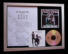 FLEETWOOD MAC Go Your Own Way CD QUALITY MUSIC FRAMED DISPLAY+FAST GLOBAL SHIP