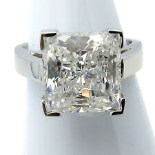size 6 .925 sterling silver clear CZ 5ct princess basket solitaire ring #SRPC10