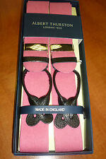 ALBERT THURSTON BOXCLOTH LEATHER END BRACES ONE SIZE PINK