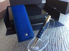 Montblanc Boheme Jewels Topaz / Blue Leather Ballpoint with matching case