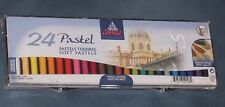 24 SOFT ROUND Pastelli Set (CONTE A PARIS) Nuovo e Sigillato FREE post vendita