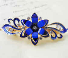 60MM crystal resin Flower hair barrette clip Hairpin  SF303
