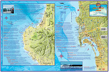 San Diego Surf Map Laminated Surfing Poster Franko Maps