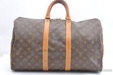 Authentic Louis Vuitton Monogram Keepall 45 Boston Bag Old Model LV 29785