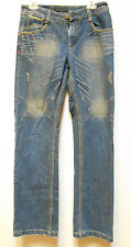 WOMENS BIG JOHN JEANS JAPANESSE RARE SIZE 30X32 EMBROIDERED BOOT CUT