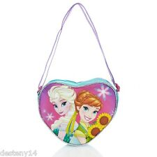 Disney Frozen Elsa & Anna Heart Hand Bag NWT