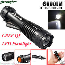 6000LM CREE Q5 AA/14500 3Mode ZOOMBARE LED Super hell MINI Polizei Taschenlampe
