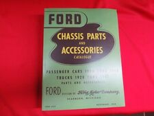 "1928-48 Ford chassis parts manual catalog ""Green Bible"" flathead"