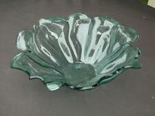 """NWT Annieglass Annie Glass 12"""" Water Lily Handmade Serving Bowl Mint Condition"""