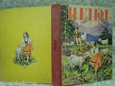 "Classic book, hardcover:""HEIDI""  vintage 1934 Whitman  cp-200"