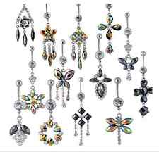 20pcs Wholesale Lot 14G Stainless Steel Navel Belly Button Rings No Duplicate