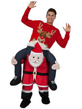 Adult Fancy Dress Costume Carry Me Santa Claus Ride On Christmas Mascot Pants